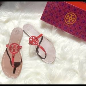 b54531e11 Tory Burch Shoes - Mini Miller Flat Thong Red Melon 8.5